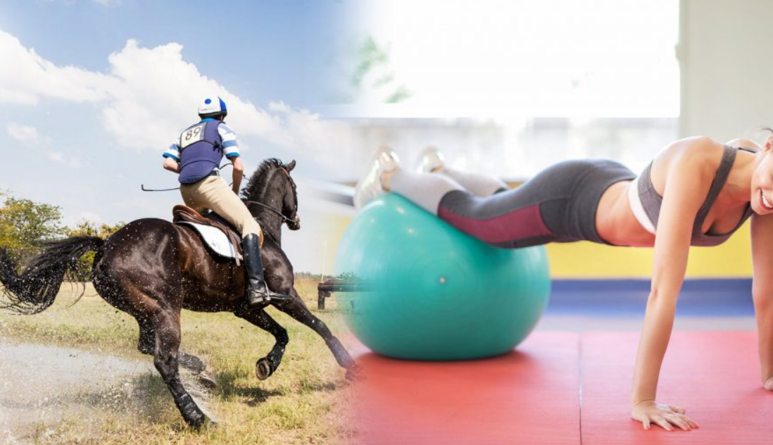 horse riding exercises